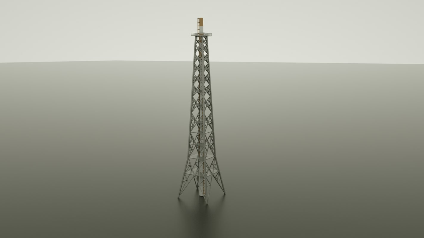 3d natural gas tower model