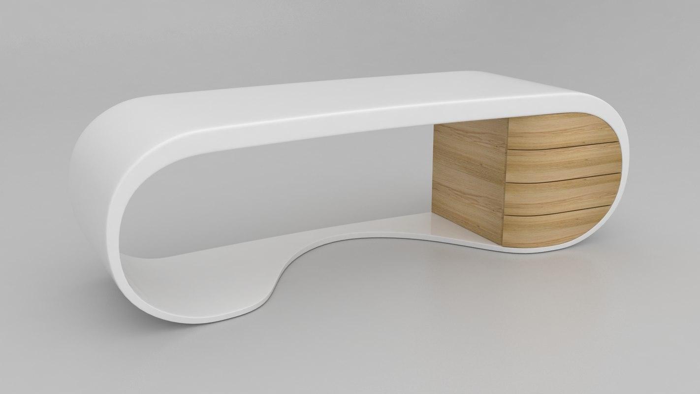 3d model contemporary office desk