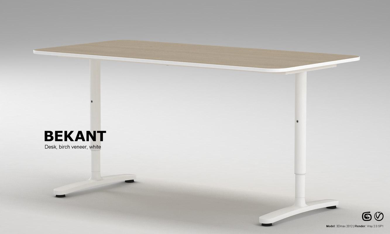 3d ikea bekant desk