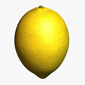 lemon fruit 3d 3ds