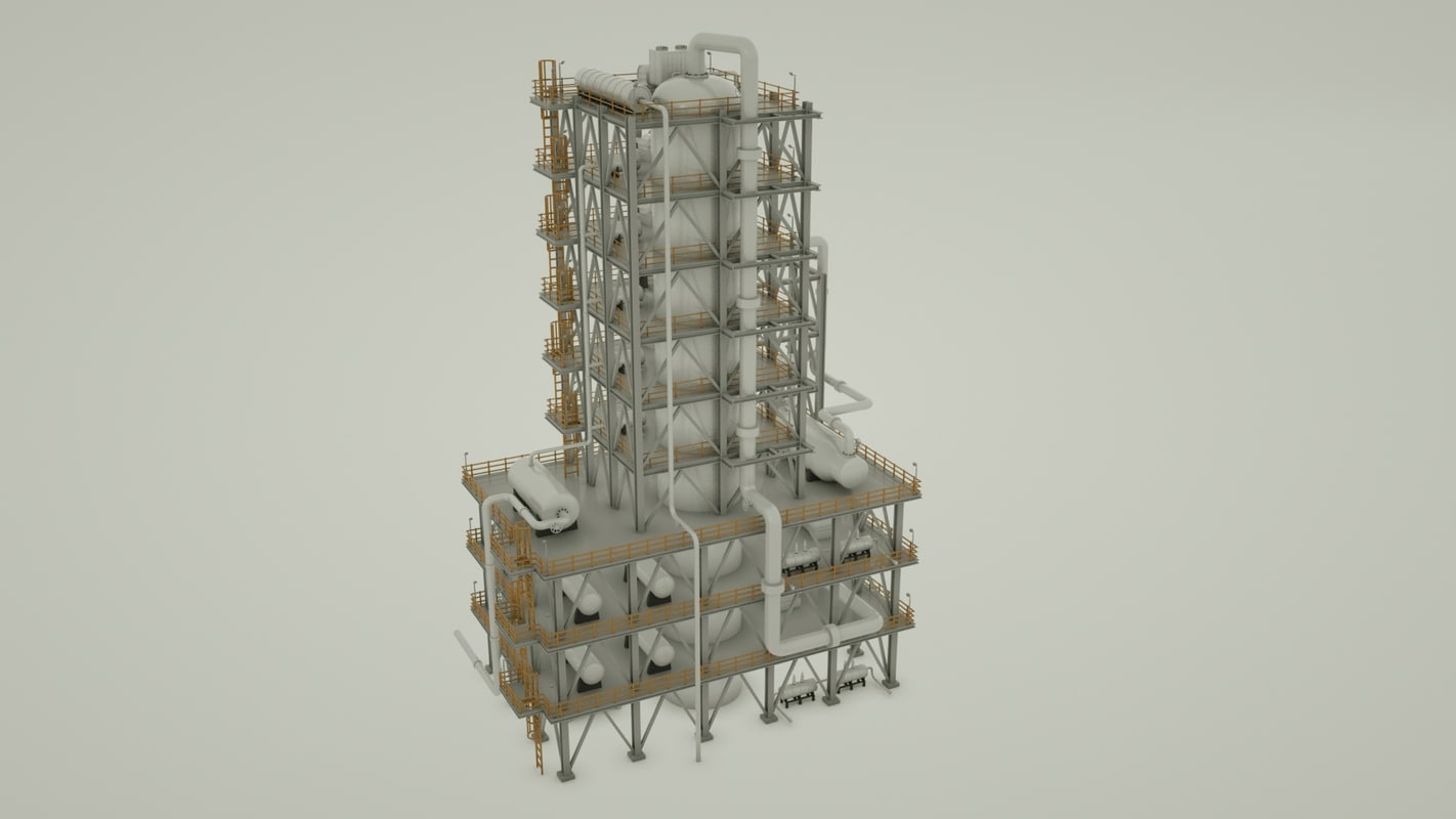 natural gas building 3d model