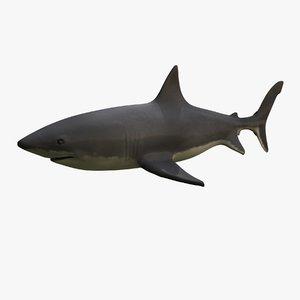 great white shark obj