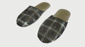 3d slippers model