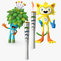 2016 Olympic Mascots and Torch