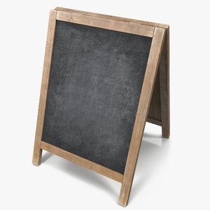 3d model chalkboard board chalk