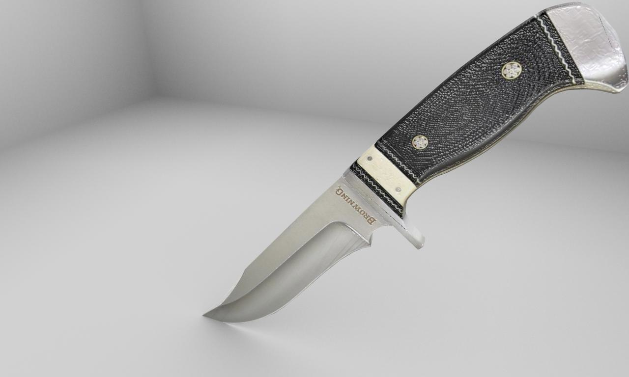 knife 3d obj
