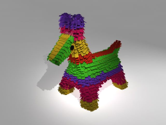3d pinata traditional mexican