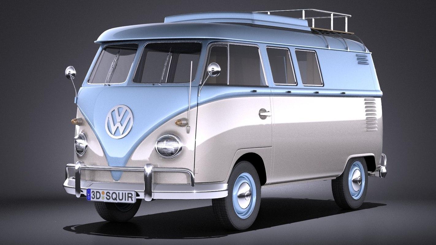 volkswagen transporter t1 3d max. Black Bedroom Furniture Sets. Home Design Ideas