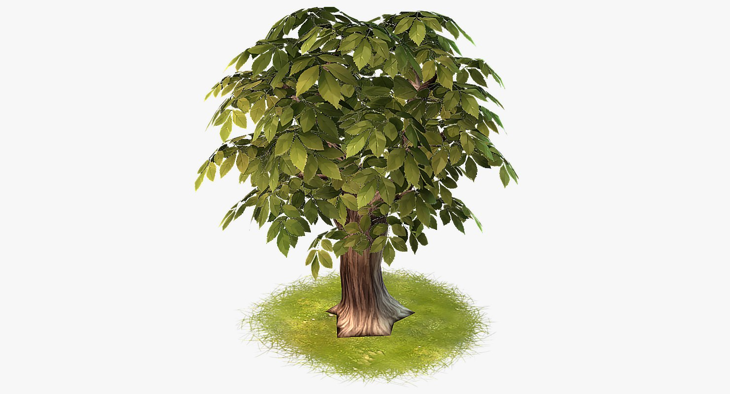 cartoon tree 04 3d max