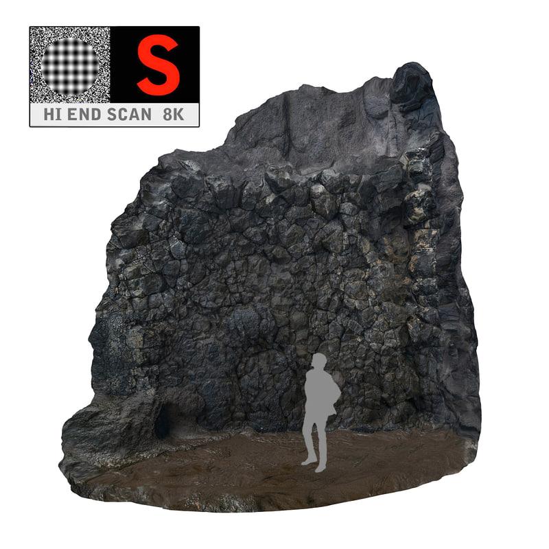black cliffs 3d model