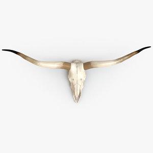 skull horns 3d max