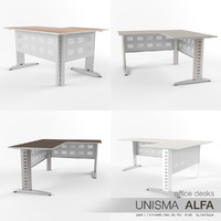 office desks unisma alfa 3d max