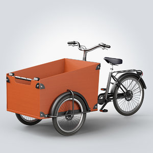 babboe cargo bike 3d max