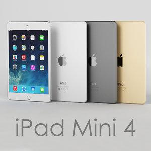 3d model tablet apple ipad mini