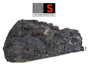 black cliffs 16k 3d obj