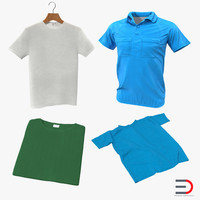 t-shirts modeled t shirt 3d model