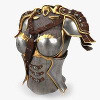 female armour 3d model