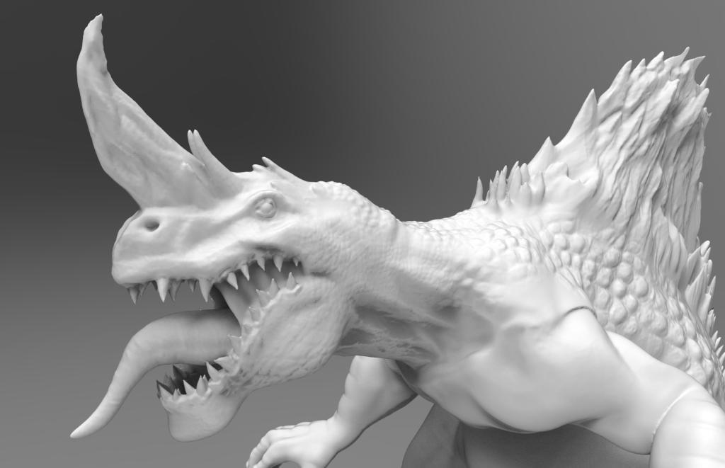 3d dragon monster model