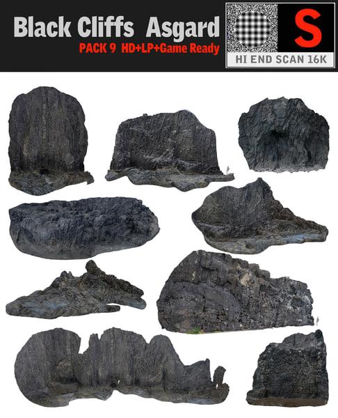 3d black cliffs pack 9