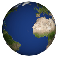 rotating earth 3d model