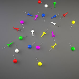 free paper pin 3d model