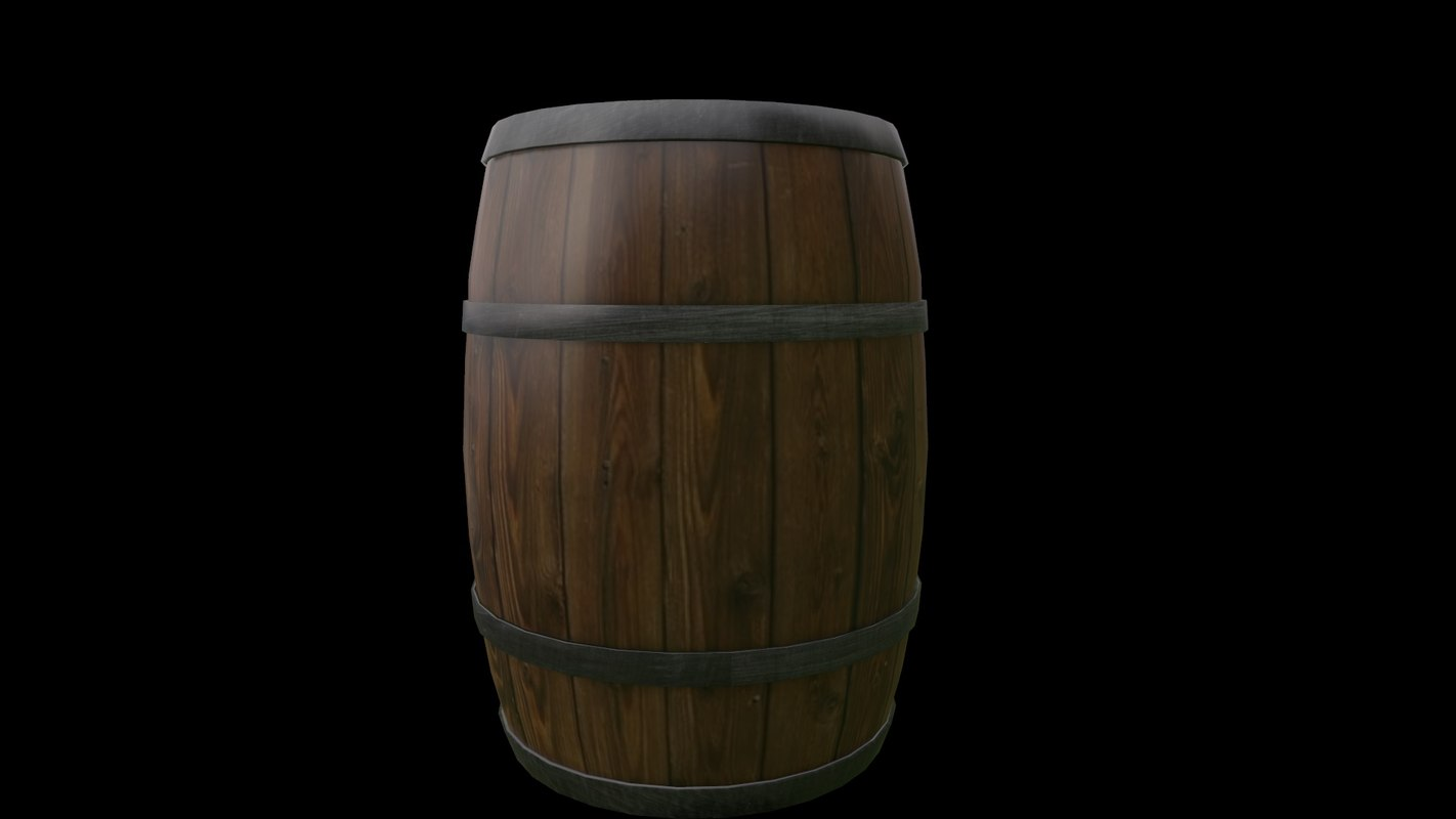 wood barrel 3d ma