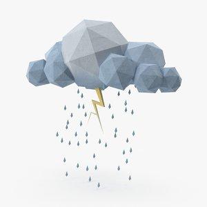 3d cloud storm lightning
