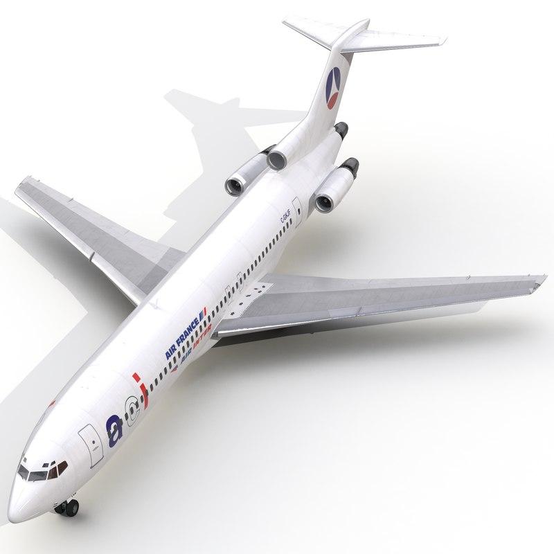 3d boeing 727-200 air france