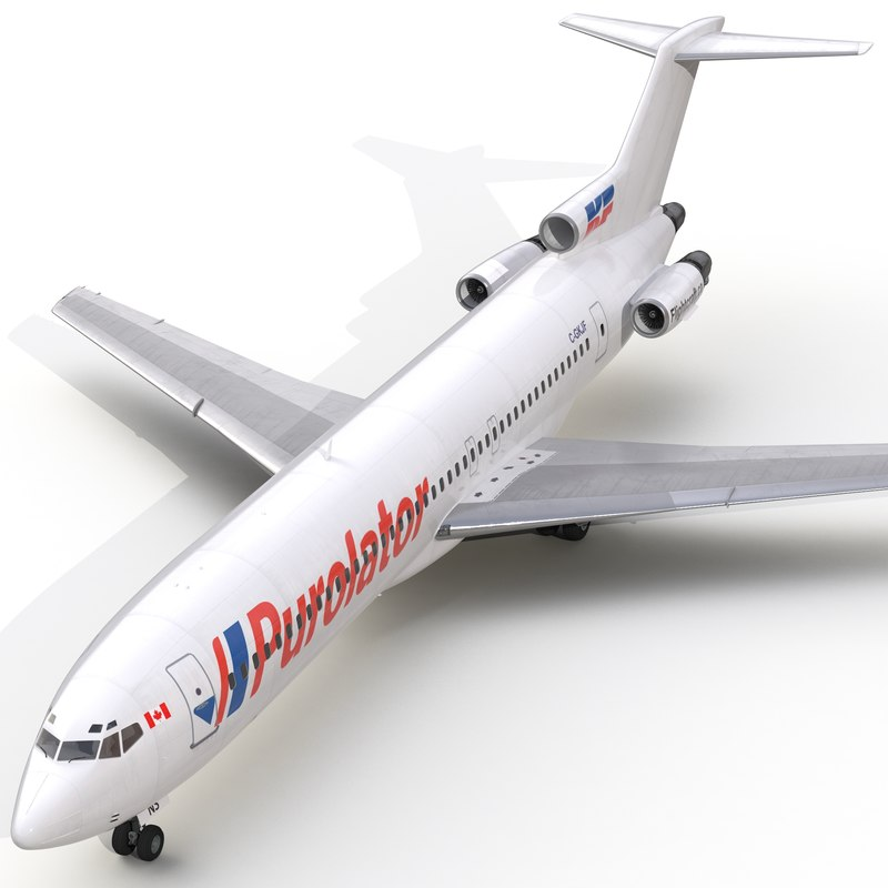 3d boeing 727 200 purolator model