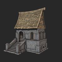3d model old medieval house