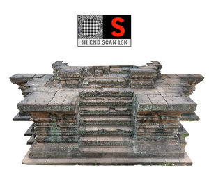 ancient stairs hd 16k 3d model