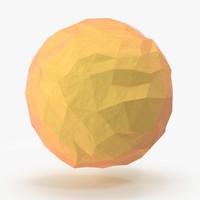 Low Poly Sun 03