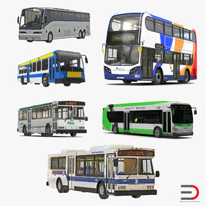 3d model buses 4 bus mta