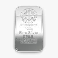 3d silver bar 100g