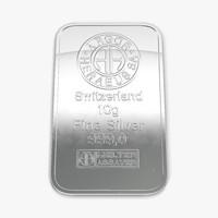 3d silver bar 10g model