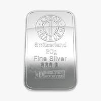 silver bar 20g 3d c4d