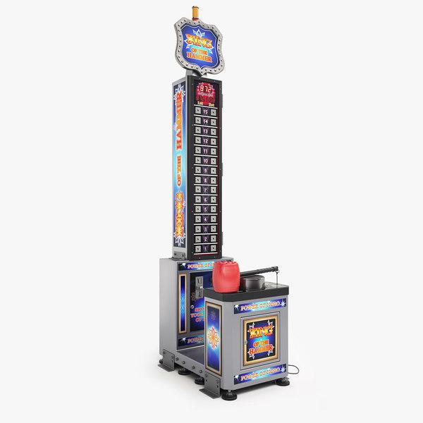 3d king hammer arcade machine model