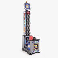 3d king hammer arcade machine model
