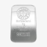 3d model silver bar 2g 2