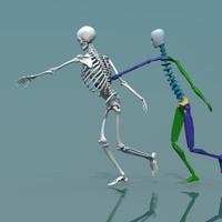 3d human skeleton combine biped