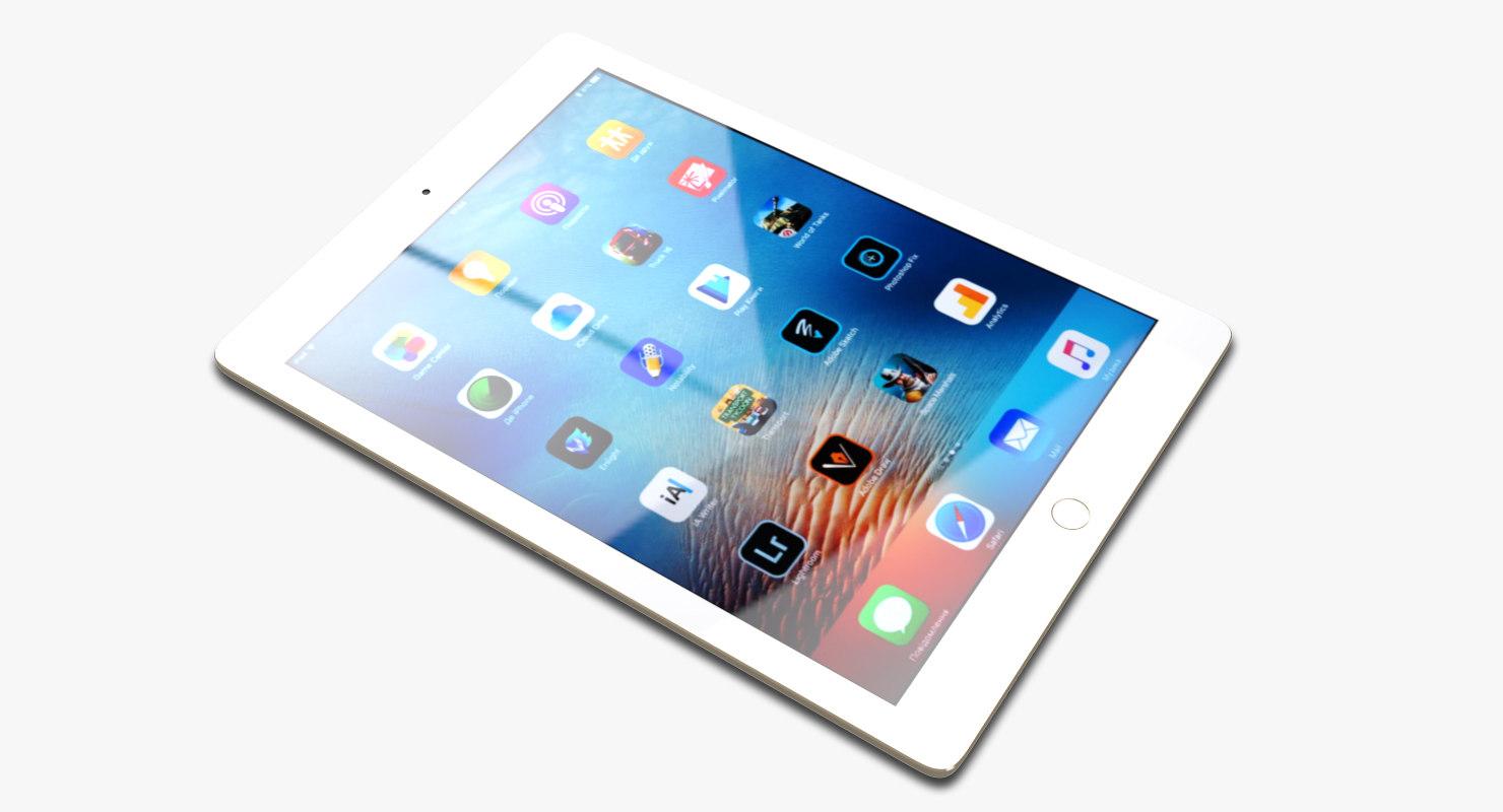 3d realistic apple ipad pro