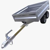 3d model realistic trailer