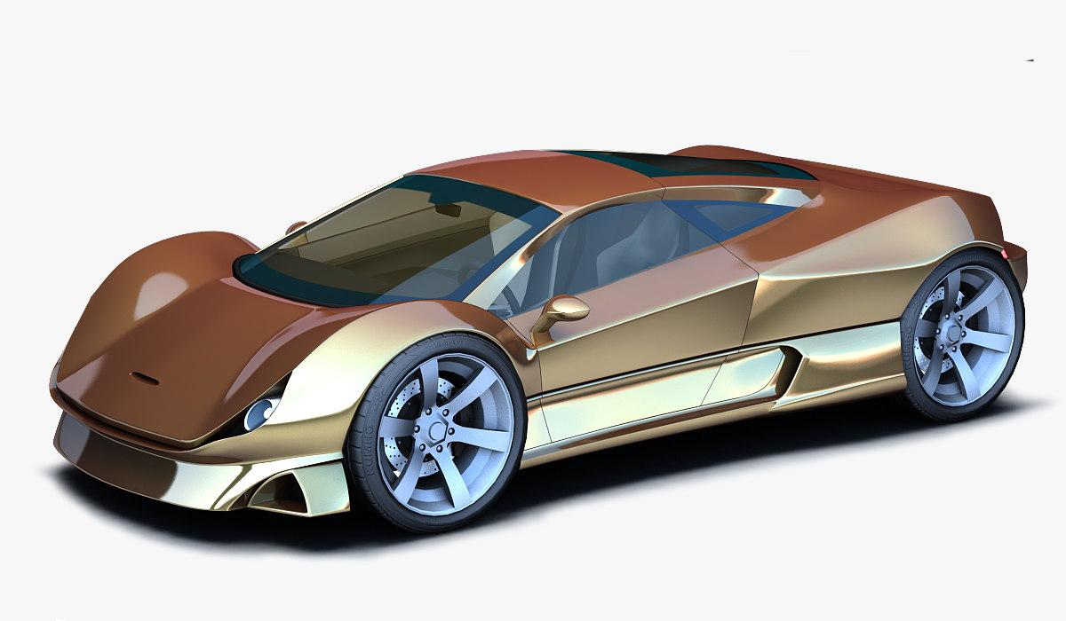 3d model gold concept