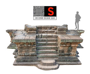 3d model of ancient stairs ultra hd