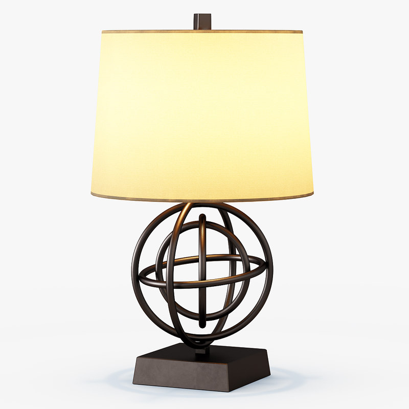 3d 3ds circles table lamp