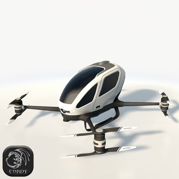 3d ehang 184 drone model