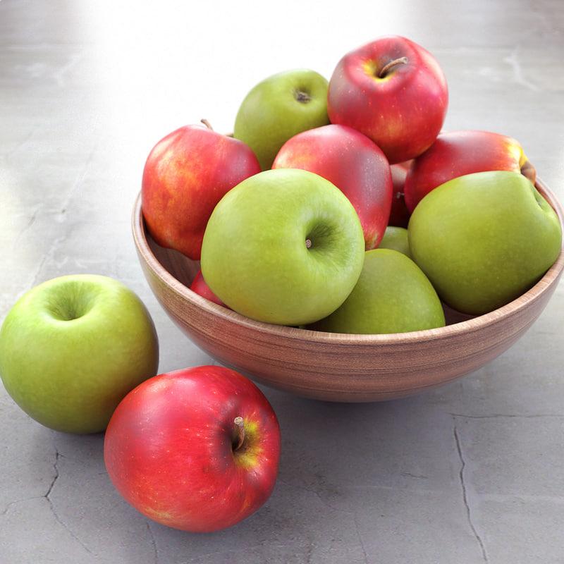 apples bowl 3d max