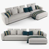 3d model minotti leonard sofa