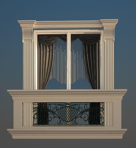 classic window 3d max