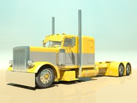 custom semi truck 3d 3ds